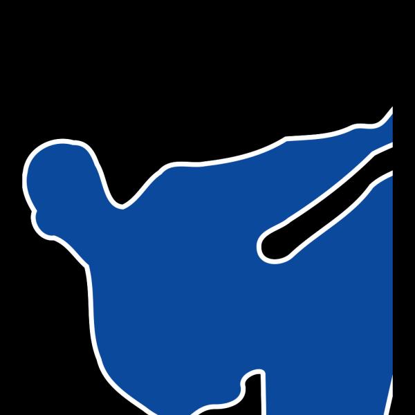 Blue Man Kicking PNG Clip art