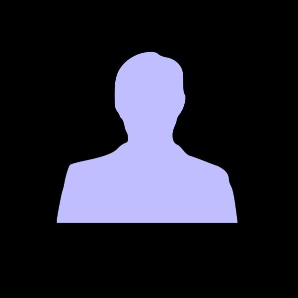 Blue Silhouette Man PNG Clip art