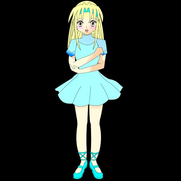 Blonde Manga Character PNG Clip art
