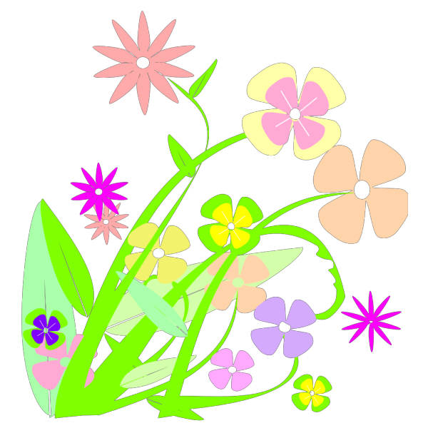Spring Is Here Circle Blue PNG Clip art