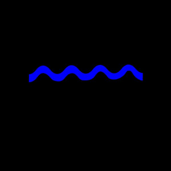 Blue River Line PNG Clip art