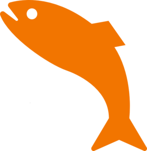 Orange Jumping Fish PNG Clip art
