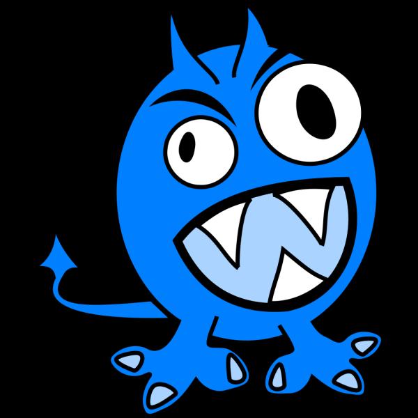 Blue Monster PNG Clip art