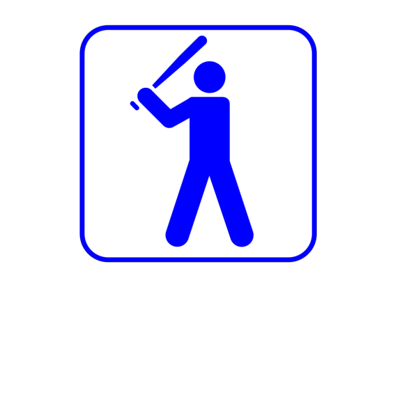 Blue Baseball Dude PNG images
