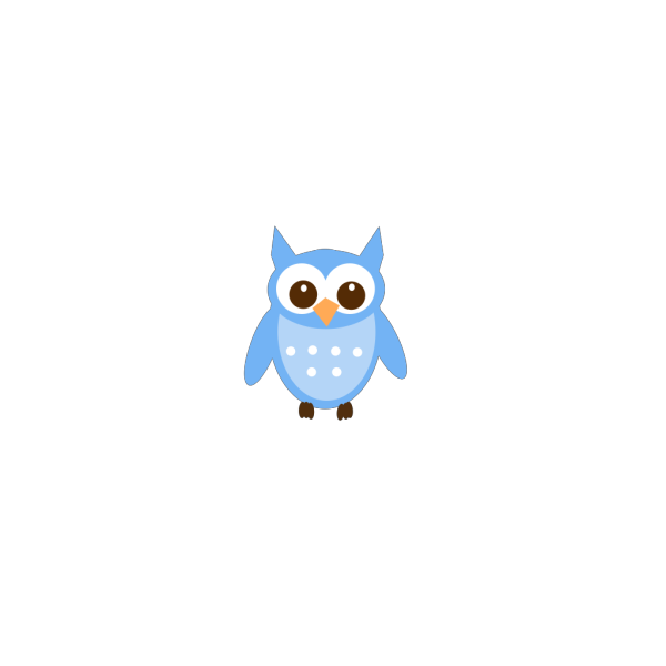Baby Blue Owl PNG Clip art