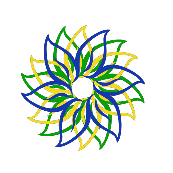 Multi-colored Flower PNG Clip art