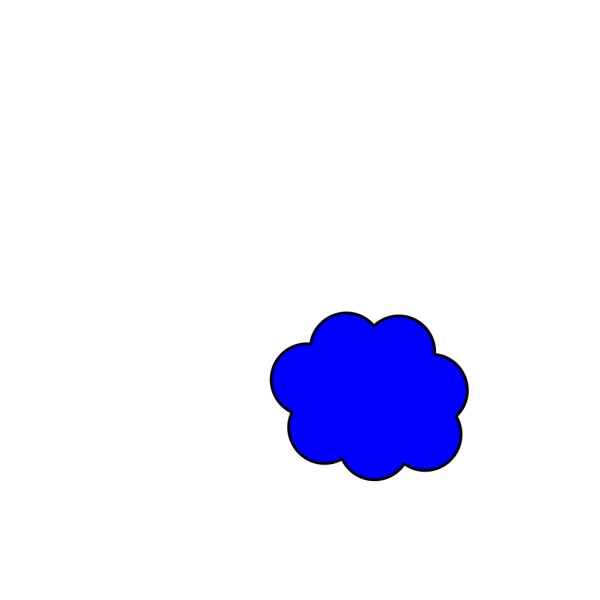Dark Blue Cloud PNG Clip art