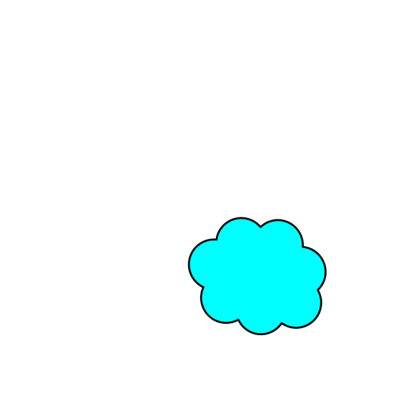 Bigger Bright Blue Cloud PNG clipart