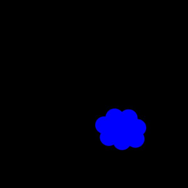 Small Blue Cloud PNG Clip art