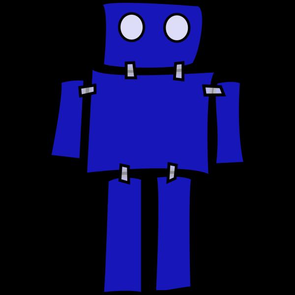 Blue Robot PNG Clip art