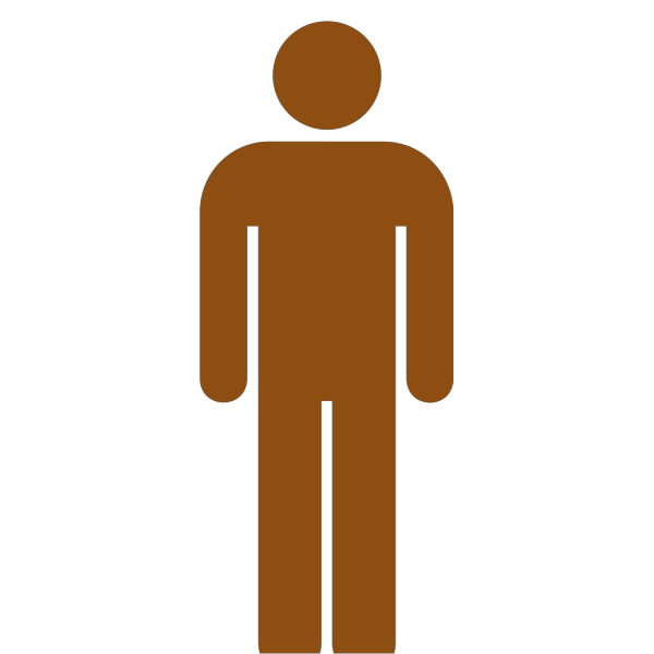Blue Toilet Man PNG Clip art