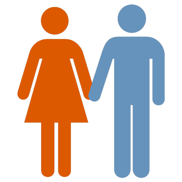 Man And Woman (blue Orange) Icon PNG Clip art