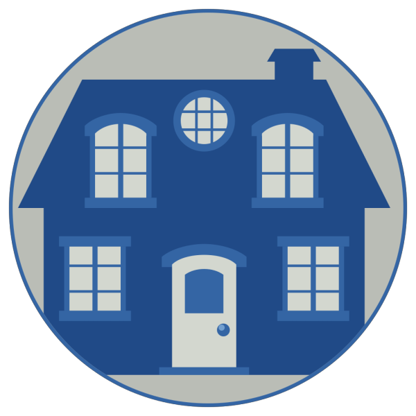 Little Blue House PNG Clip art