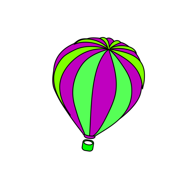 Hot Air Balloon Grey PNG clipart