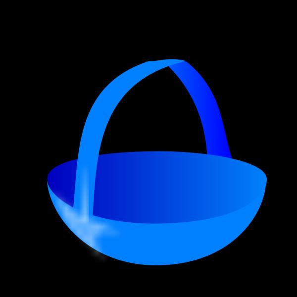 Blue Easter Basket PNG Clip art
