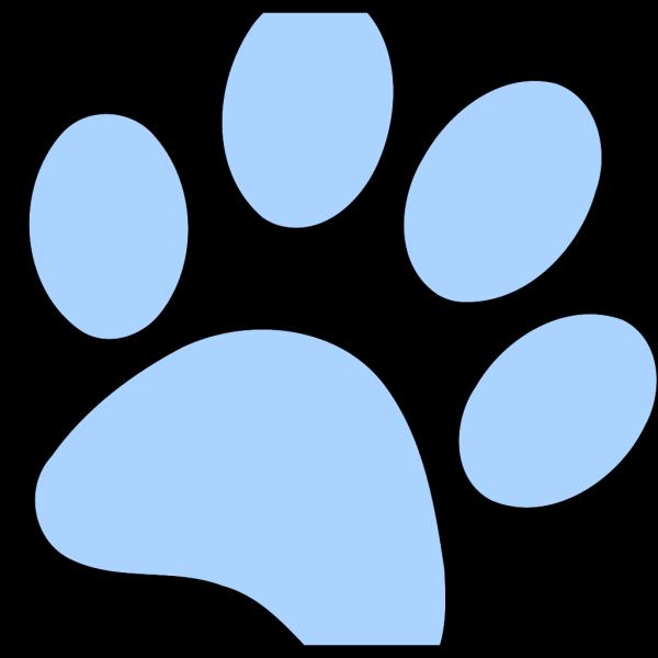 Blue Paw Print PNG Clip art