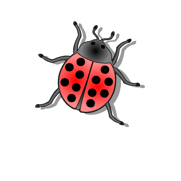Multi Colored Lady Bugs PNG Clip art