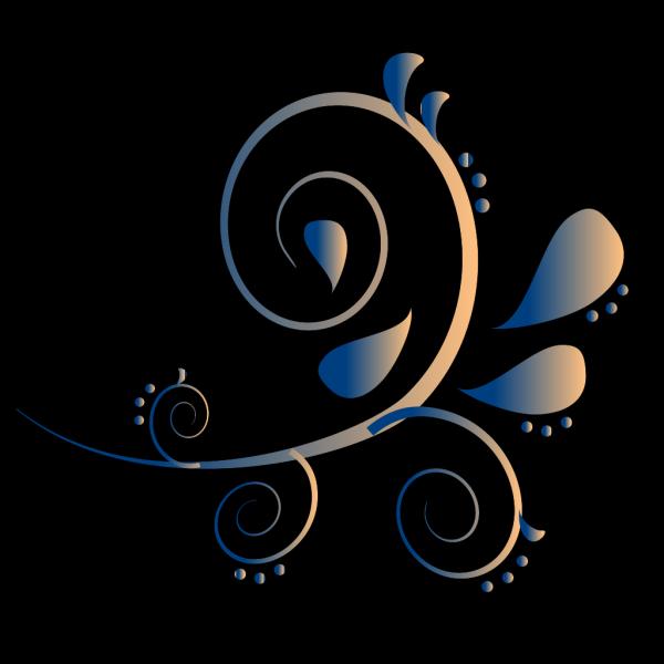 Blue Cream Paisley PNG Clip art