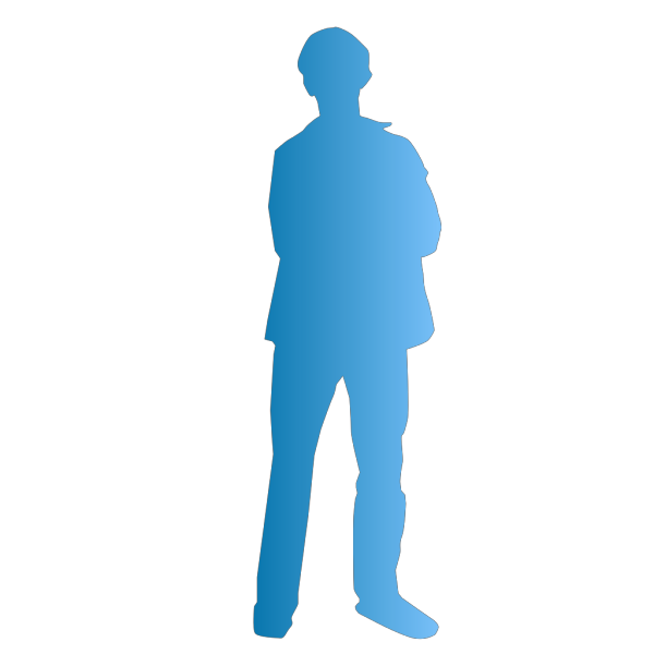 Blue Man Person PNG Clip art