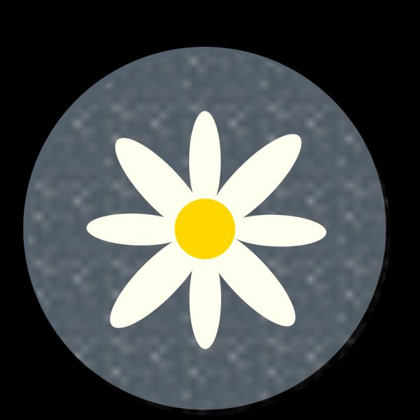 Daisy Polka Dot Circle Blue PNG Clip art