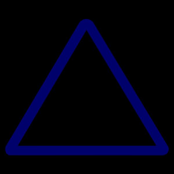 Thin Blue Triangular Sign PNG Clip art