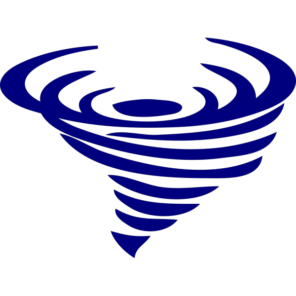 Blue Spinning Whirlwind PNG Clip art