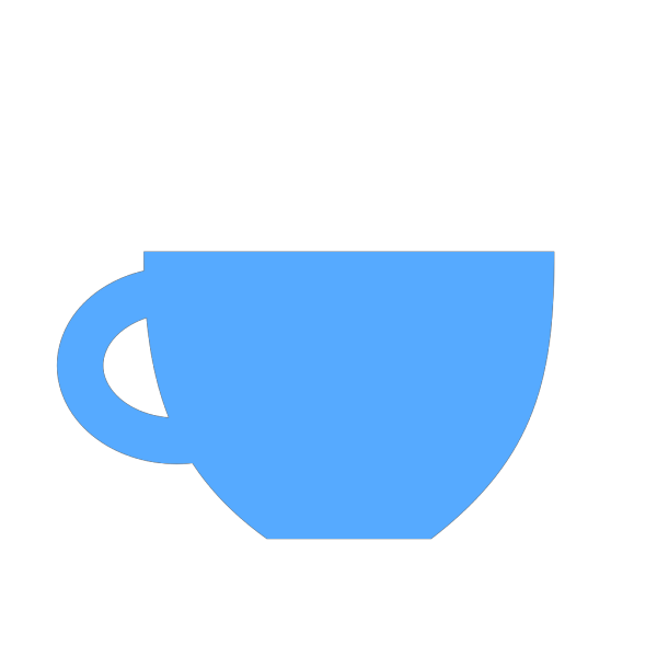 Blue Cup With Handle On The Left PNG Clip art