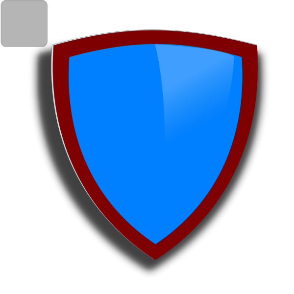 Blue  Security Shield PNG Clip art