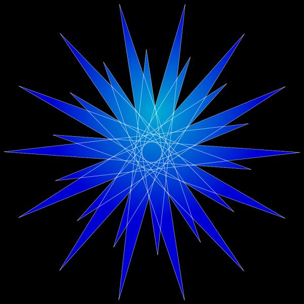 Blue Star Burst PNG Clip art