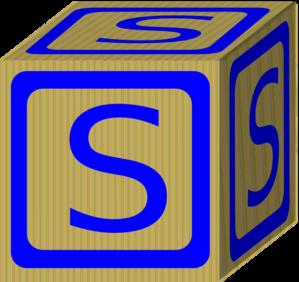 Letter S Block PNG Clip art