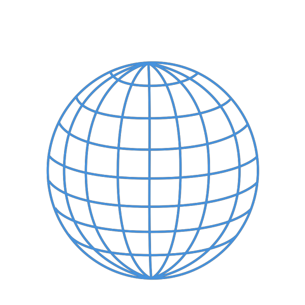 Enlarged Thick Blue Wire Globe PNG Clip art