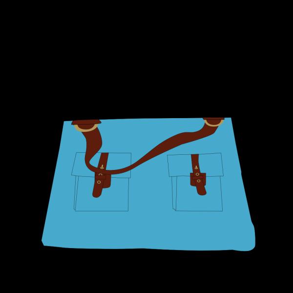 Blue Women Bag Open 2 PNG Clip art