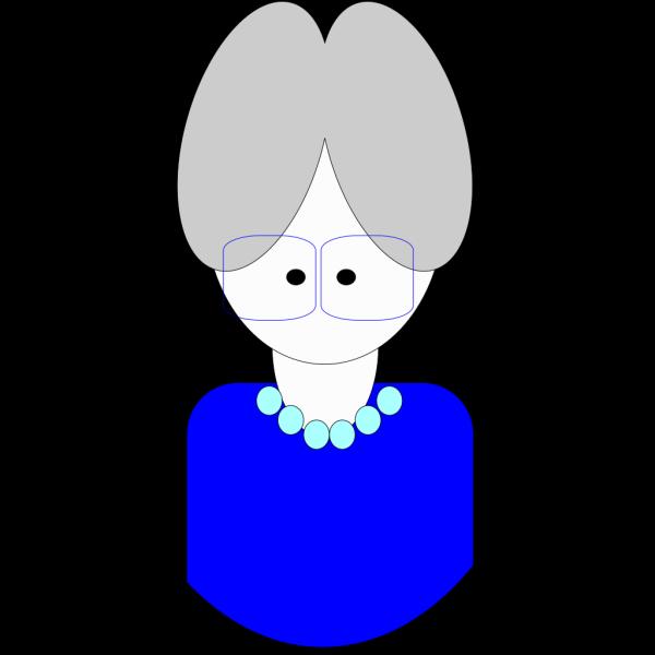 Blue Grandma Cartoon PNG Clip art