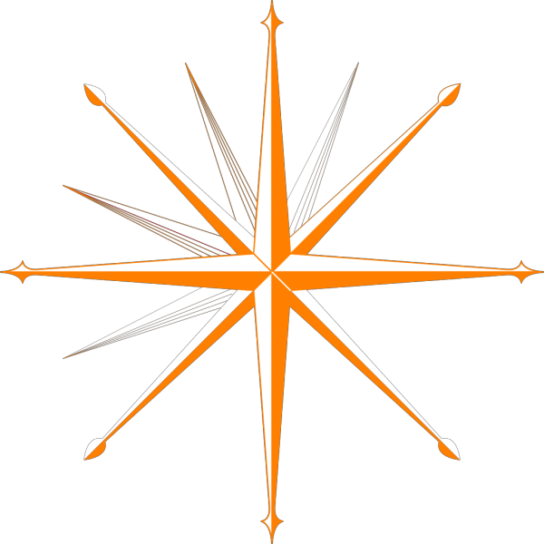 Compass Blue And Orange Compass PNG Clip art