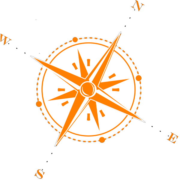 Compass Blue And Orange Compass PNG clipart