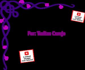 Purple Flower Border PNG Clip art