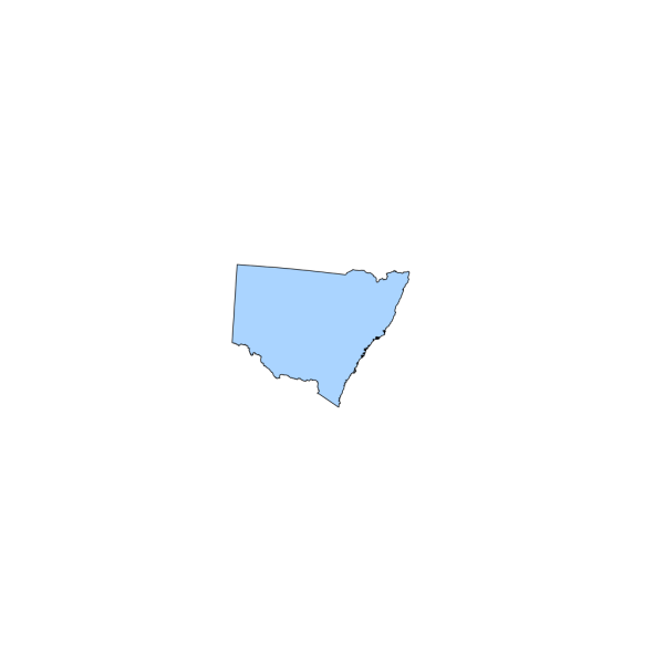 Map Nsw Light Blue PNG Clip art
