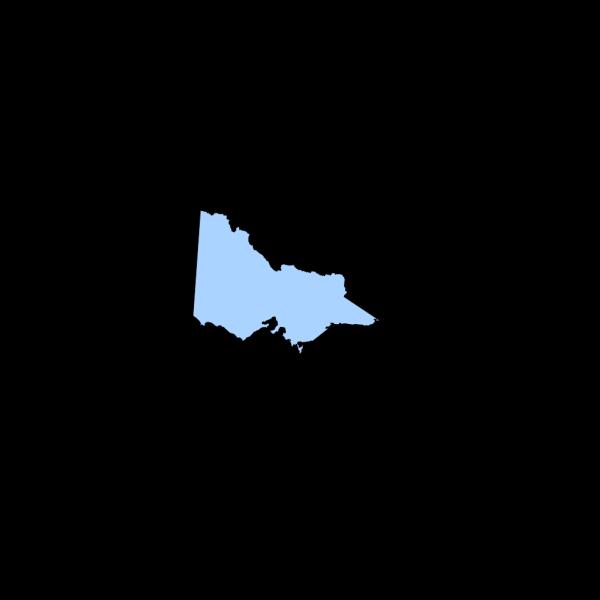 Map Vic Light Blue PNG Clip art