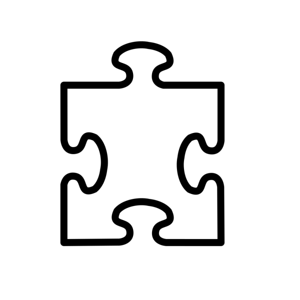 Jigsaw White Puzzle Piece Large PNG Clip art