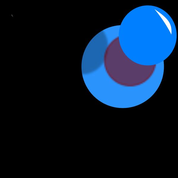 Pushpinblue PNG Clip art