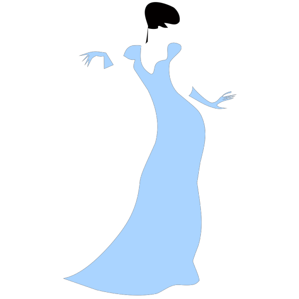 Lovely Woman In A Blue Dress PNG Clip art