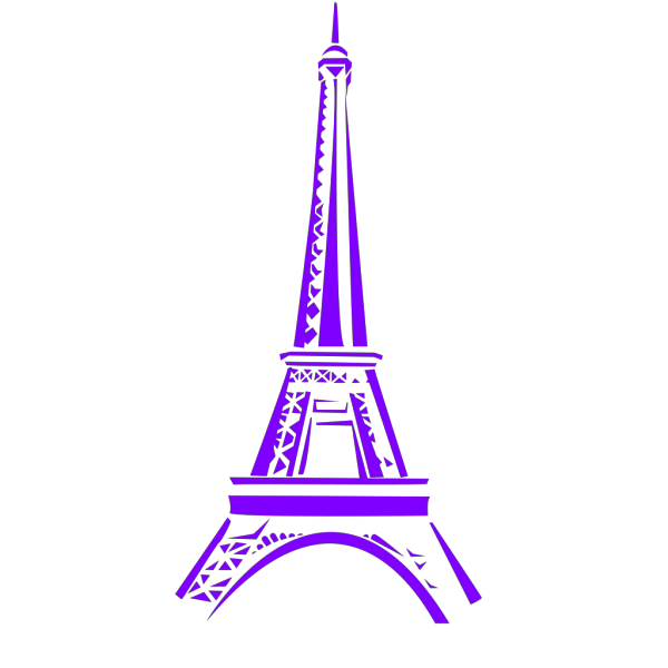 Blue Eiffel Tower Silhouette PNG Clip art