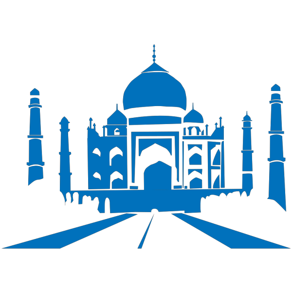 Taj Mahal Blue Silhouette PNG images