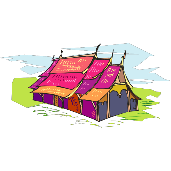 Multi Colored Tent PNG Clip art