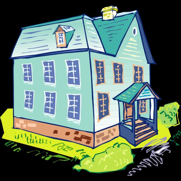 Light Blue House PNG Clip art