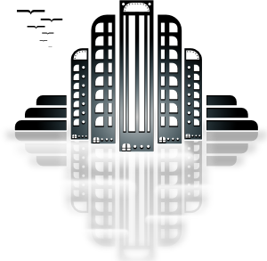 Skyscrapers In The City PNG Clip art