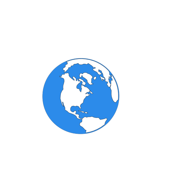Blue Earth Icon PNG Clip art