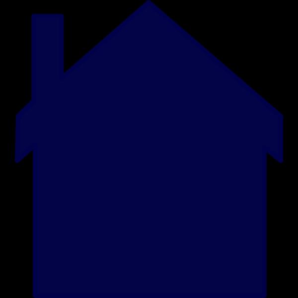 Navy Blue House PNG Clip art