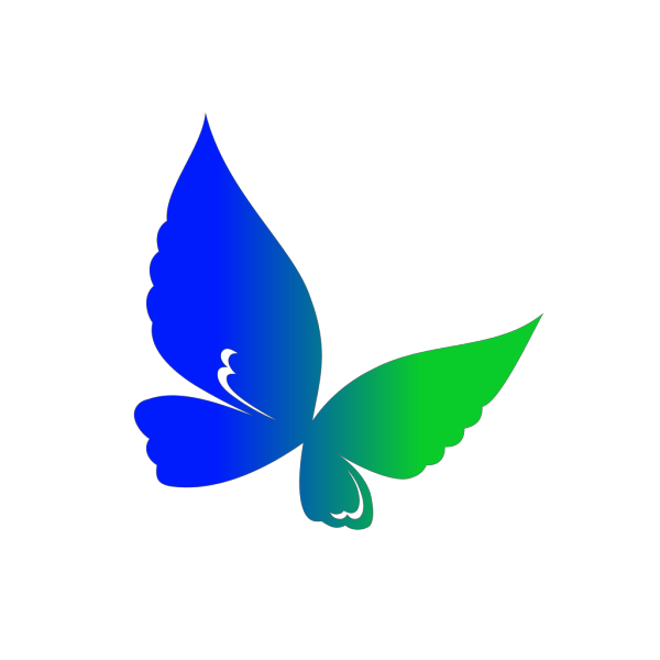 Linear Gradient Butterfly PNG Clip art