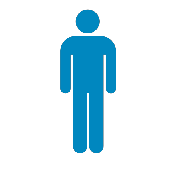 Blue Person Symbol PNG Clip art
